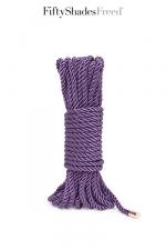 Corde de bondage 10m - Fifty Shades Freed : Luxueuse corde de bondage Want to Play?, longueur 10 mètre, issue de la collection officielle Fifty Shades Freed.