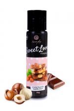 Lubrifiant comestible chocolat-noisette - 60ml