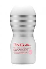 Masturbateur Original Vacuum Cup Gentle - Tenga : Amateur de gorge profonde? Le nouveau masturbateur Tenga Original Gentle permet de simuler des fellations particulièrement intenses !