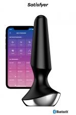 Plug-Ilicious 2 Noir - Satisfyer : vibro anal connecté en silicone, 2 moteurs puissants, rechargeable et étanche, pour hommes et femmes.