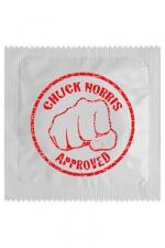 Préservatif humour - Chuck Norris : Préservatif Chuck Norris, un préservatif personnalisé humoristique de qualité, fabriqué en France, marque Callvin.