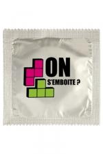 Préservatif humour - On S'emboite : Préservatif On S'emboite, un préservatif personnalisé humoristique de qualité, fabriqué en France, marque Callvin.