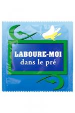 Préservatif humour - Laboure Moi Dans Le Pré : Préservatif Laboure Moi Dans Le Pré, un préservatif personnalisé humoristique de qualité, fabriqué en France, marque Callvin.