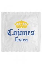 Préservatif humour - Cojones Extra : Préservatif Cojones Extra, un préservatif personnalisé humoristique de qualité, fabriqué en France, marque Callvin.
